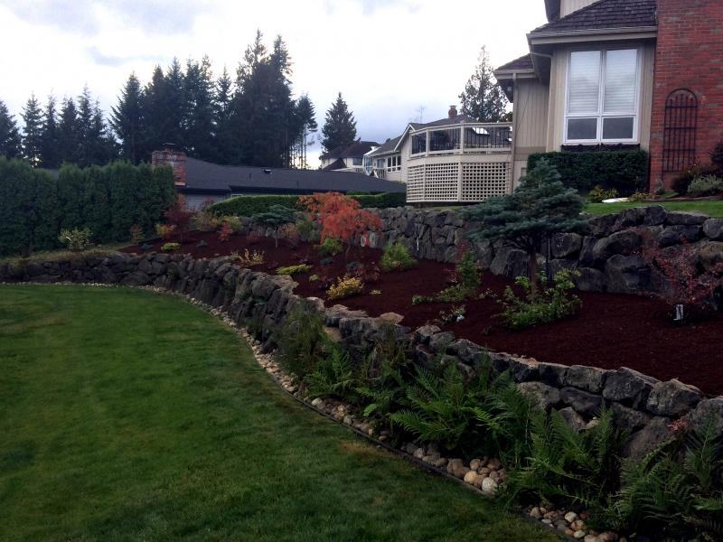 Rock walls windy point services inc for Landscaping rocks kitsap county